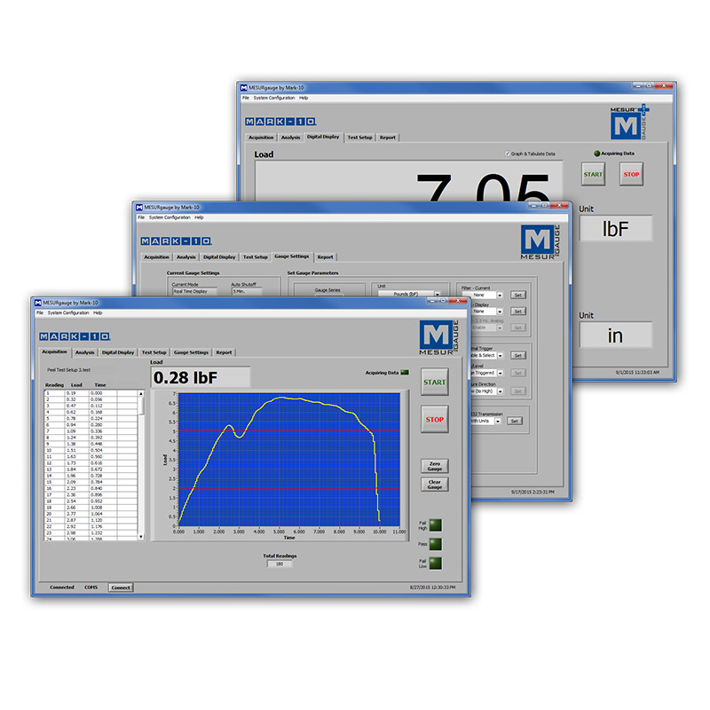 mark-10 software measure force torque