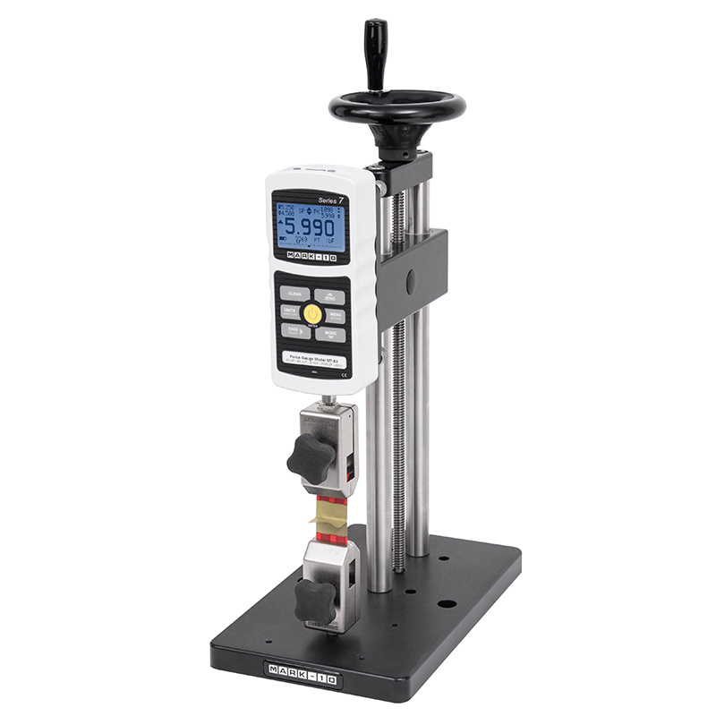 manual test stand configured for vertical peel test es20