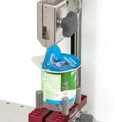 Mark-10 G1008 yogurt peel application